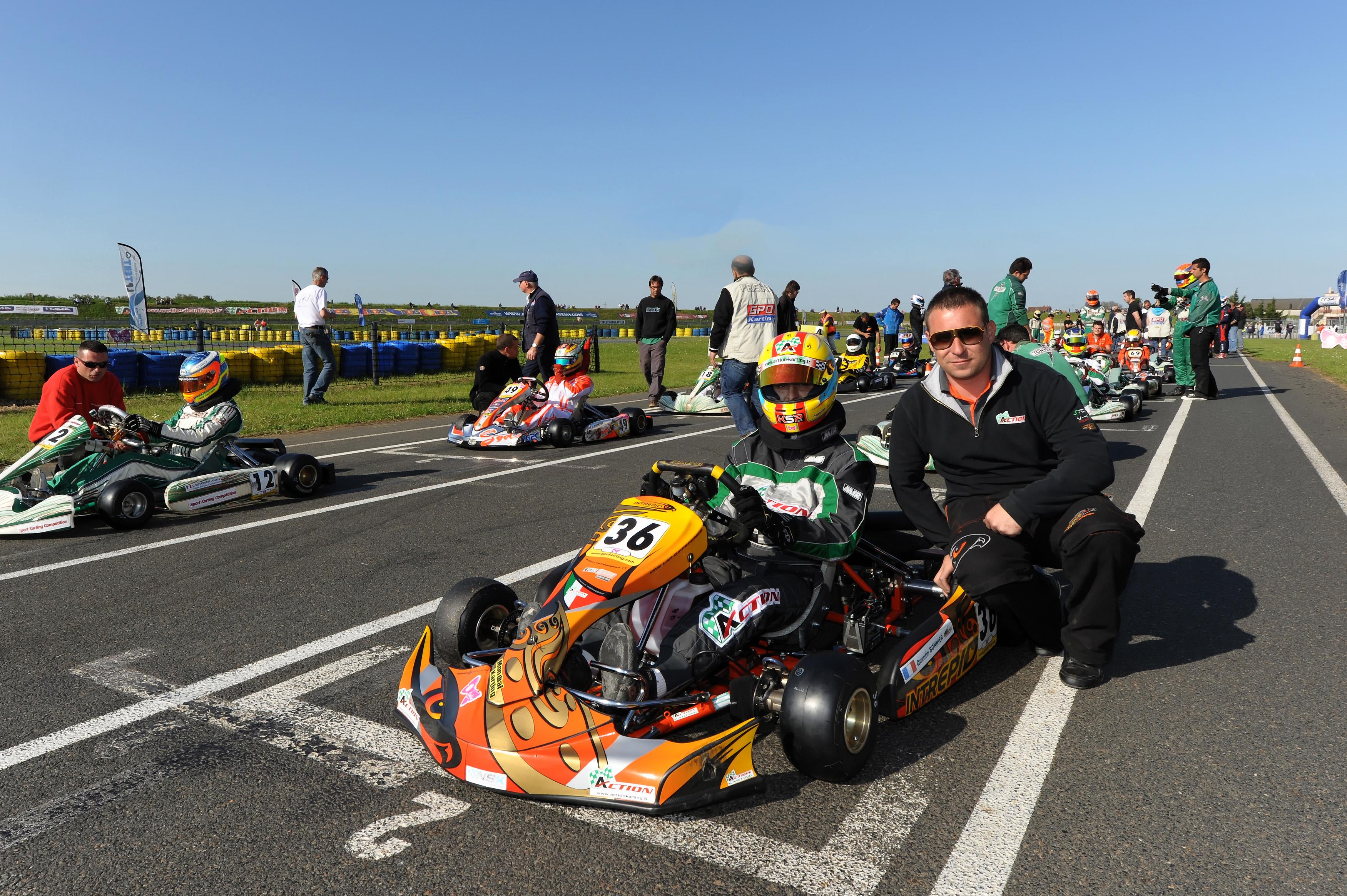 Quentin Bonnier : troisième de la Coupe de France Rotax Max